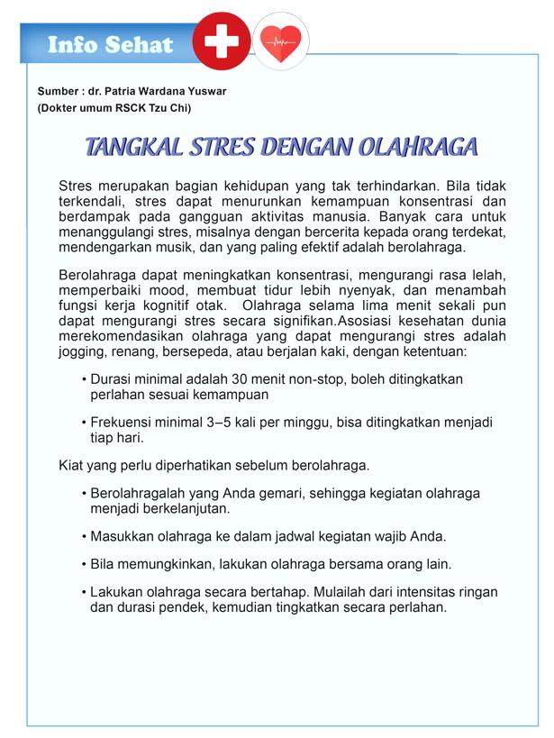 Tangkal Stres dengan Olahraga