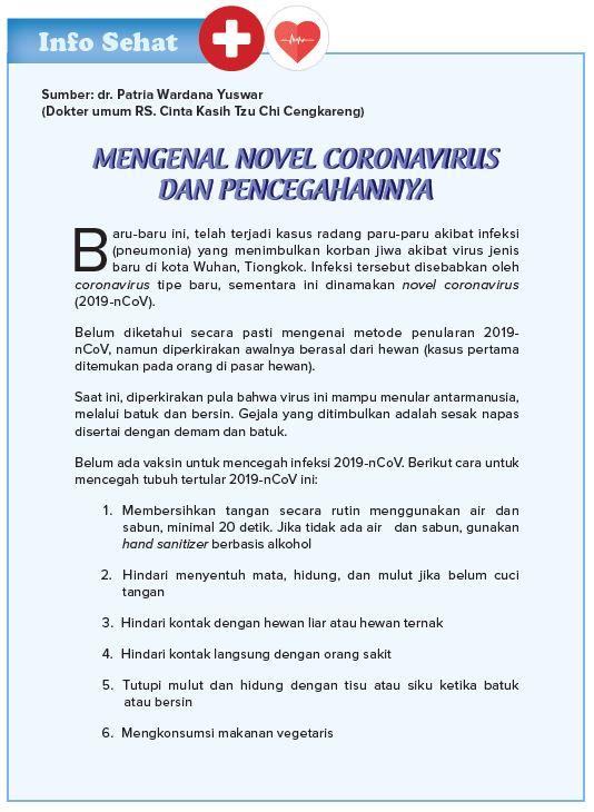 Mengenal Novel Coronavirus dan Pencegahannya