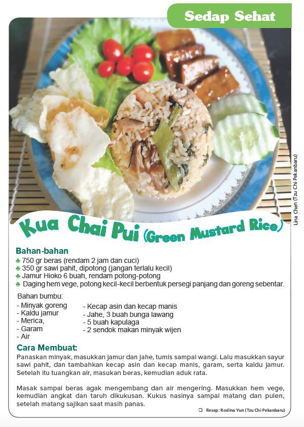 Kua Chai Pui (green Mustard Rice)