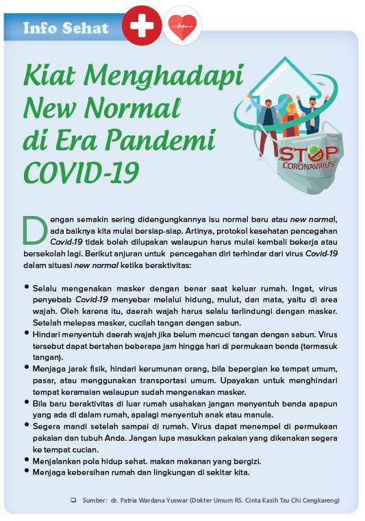 Kiat Menghadapi New Normal di Era Pandemi Covid-19
