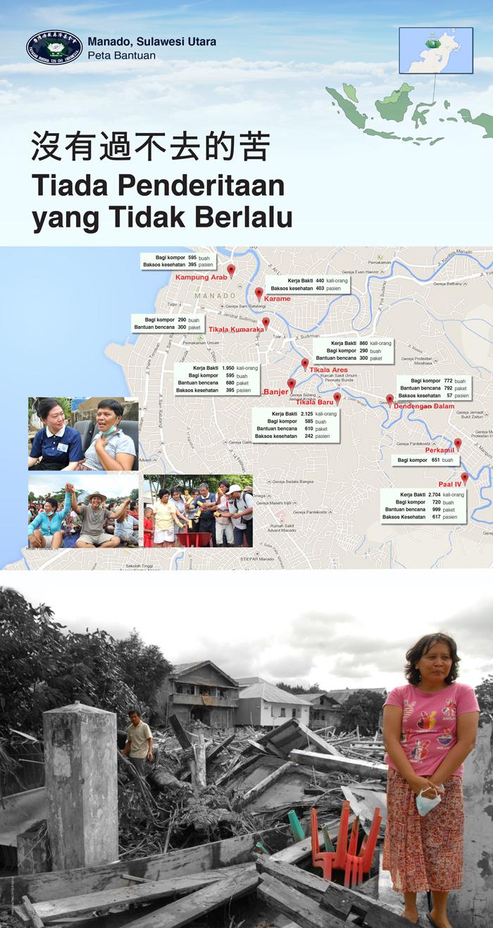 Poster Bantuan Banjir Manado