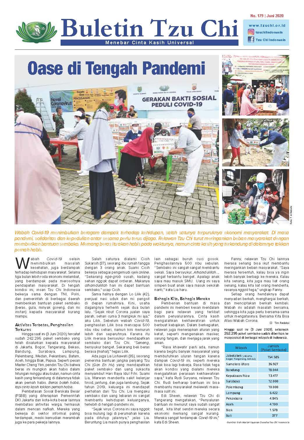 Buletin Tzu Chi Edisi 179 Juni 2020