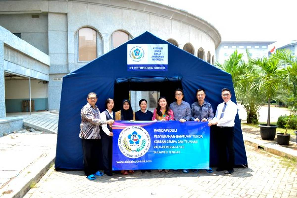 AKIDA Donasikan 42 Unit Tenda Untuk Palu