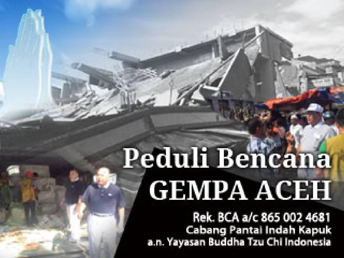 Peduli Bencana Gempa Aceh
