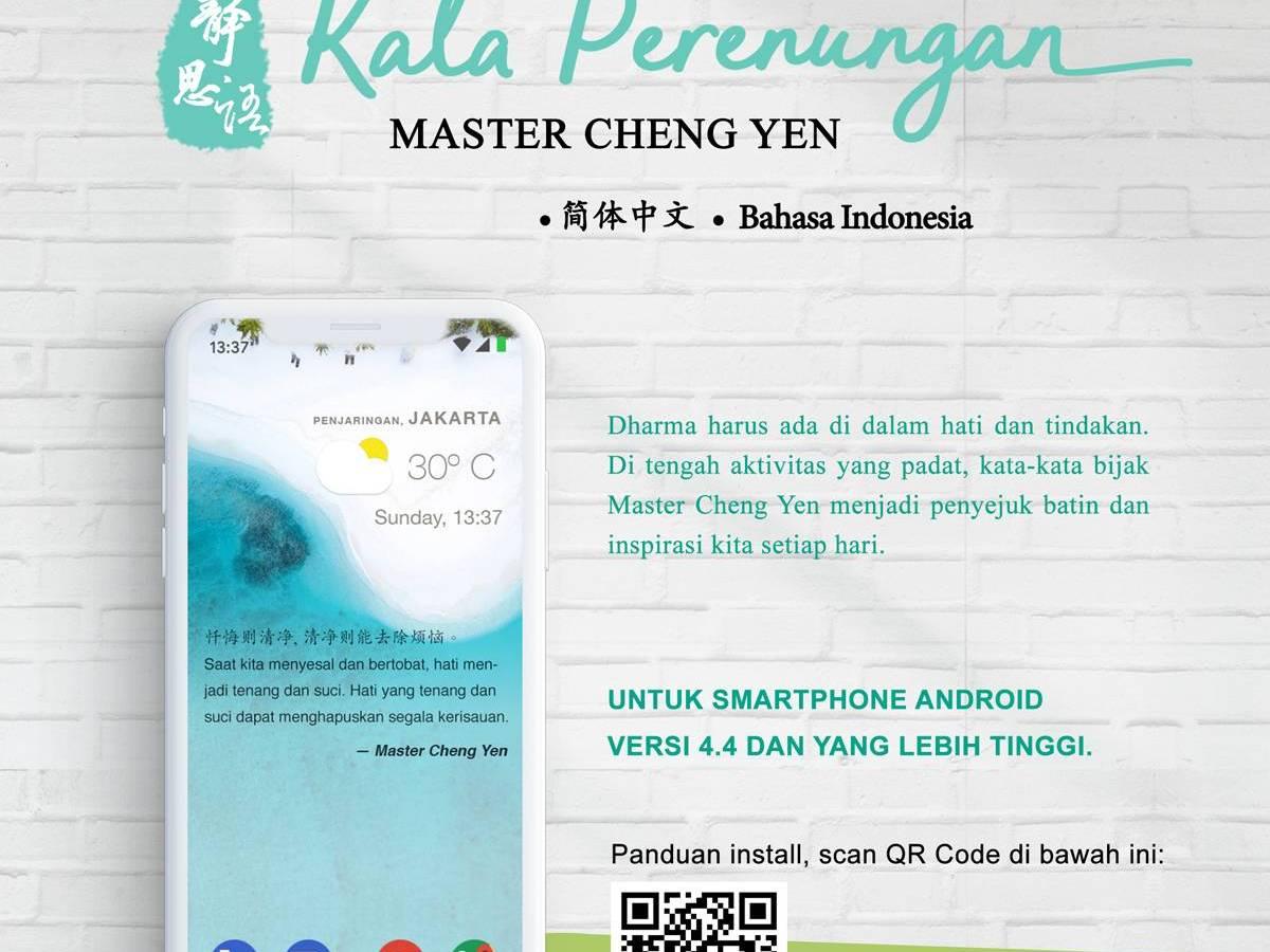 Kata Perenungan Jing Si di Smartphone Android