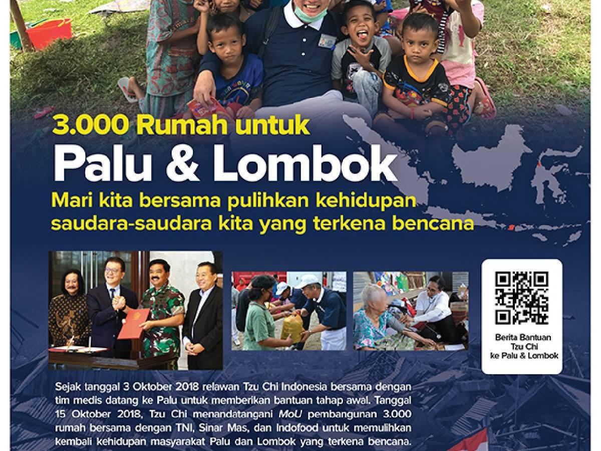 Pembangunan 3.000 Rumah di Palu dan Lombok
