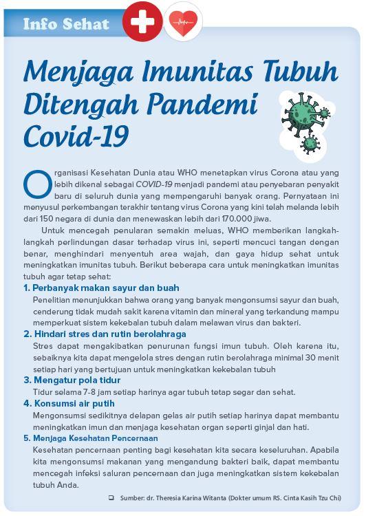 Menjaga Imunitas Tubuh Ditengah Pandemi Covid-19