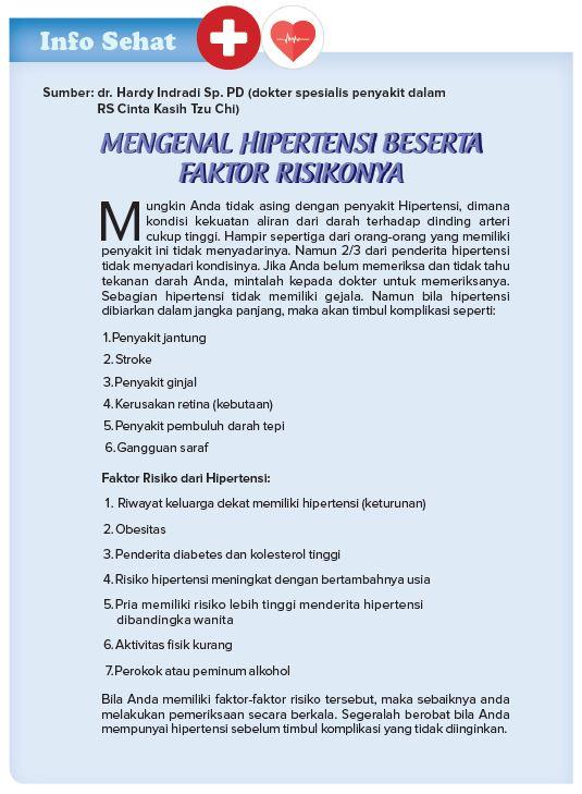 Mengenal Hipertensi Beserta Faktor Risikonya