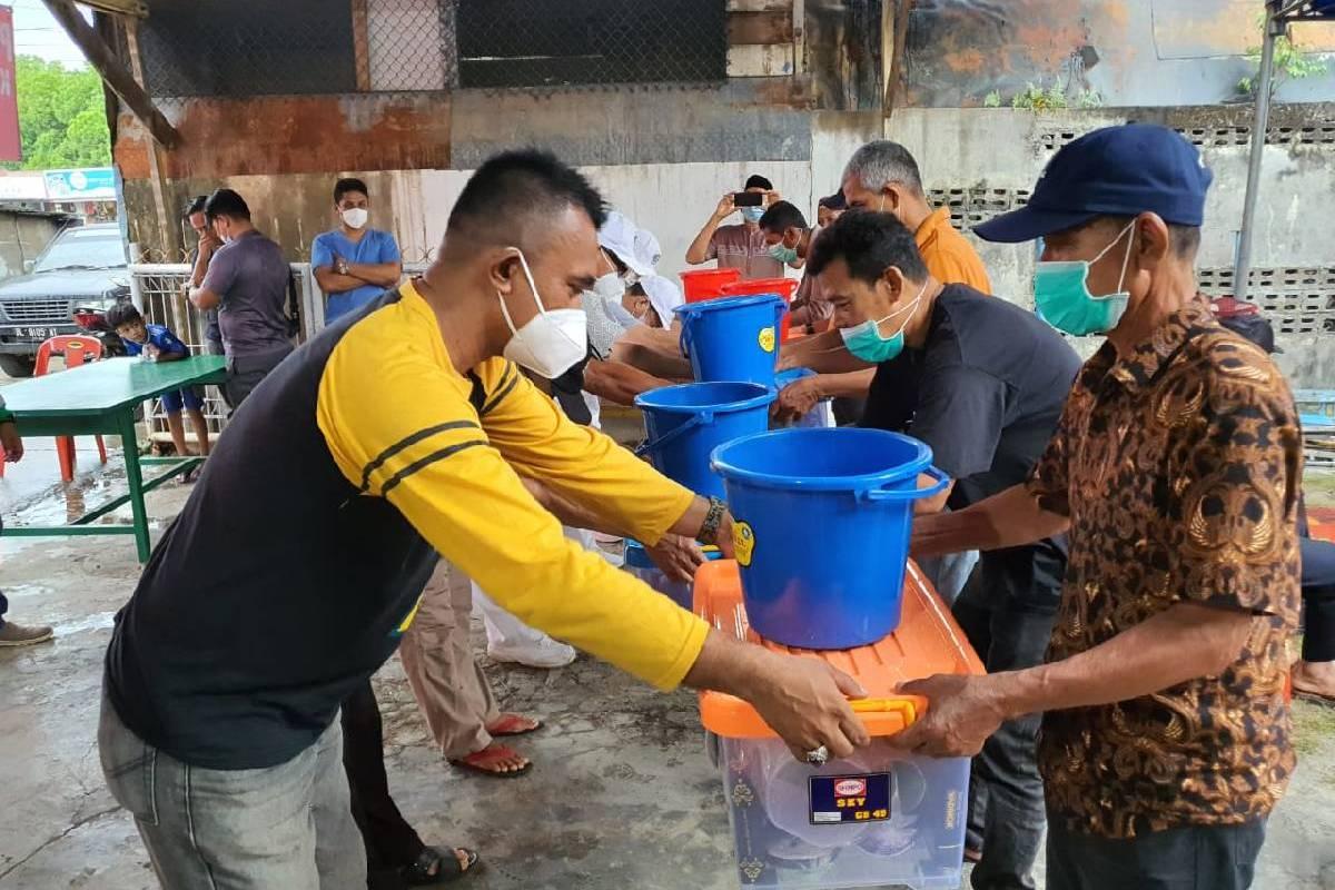 Aksi solidaritas Relawan Tzu Chi di Lhokseumawe pada Bulan Suci Ramadan