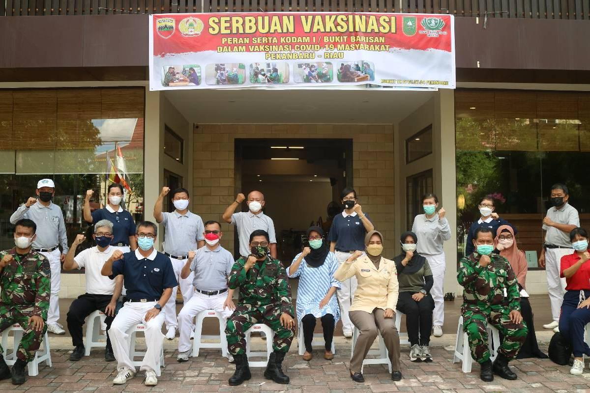 Serbuan Vaksinasi Covid-19 di Pekanbaru
