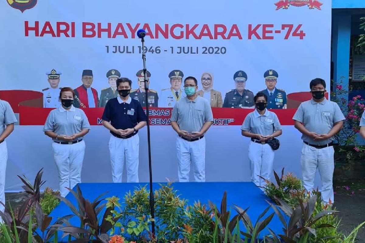 Bersumbangsih di Hari Bhayangkara KE-74