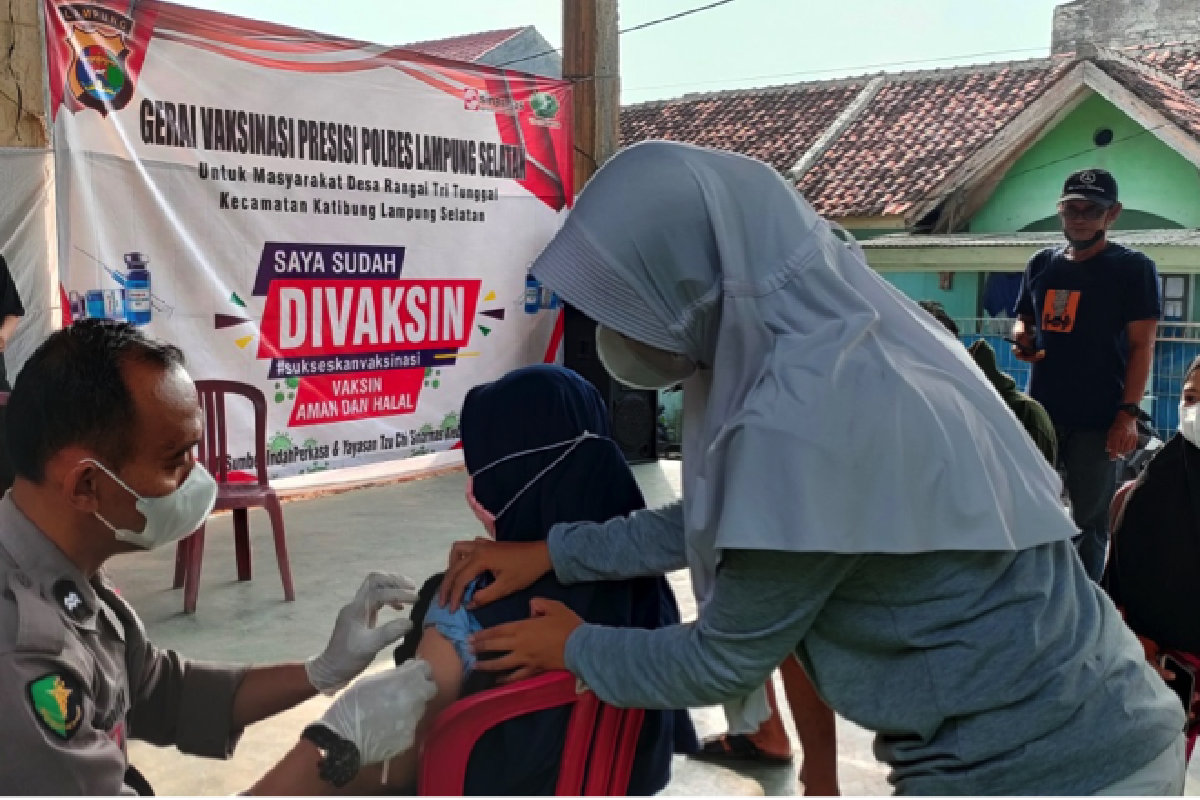 Tzu Chi Sinar Mas di Lampung Gelar Vaksinasi
