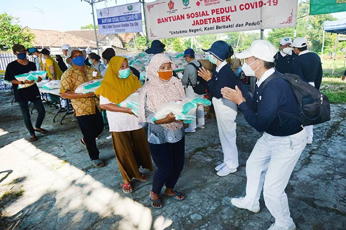 Bantuan Sosial Peduli Covid-19 di Desa Lemo