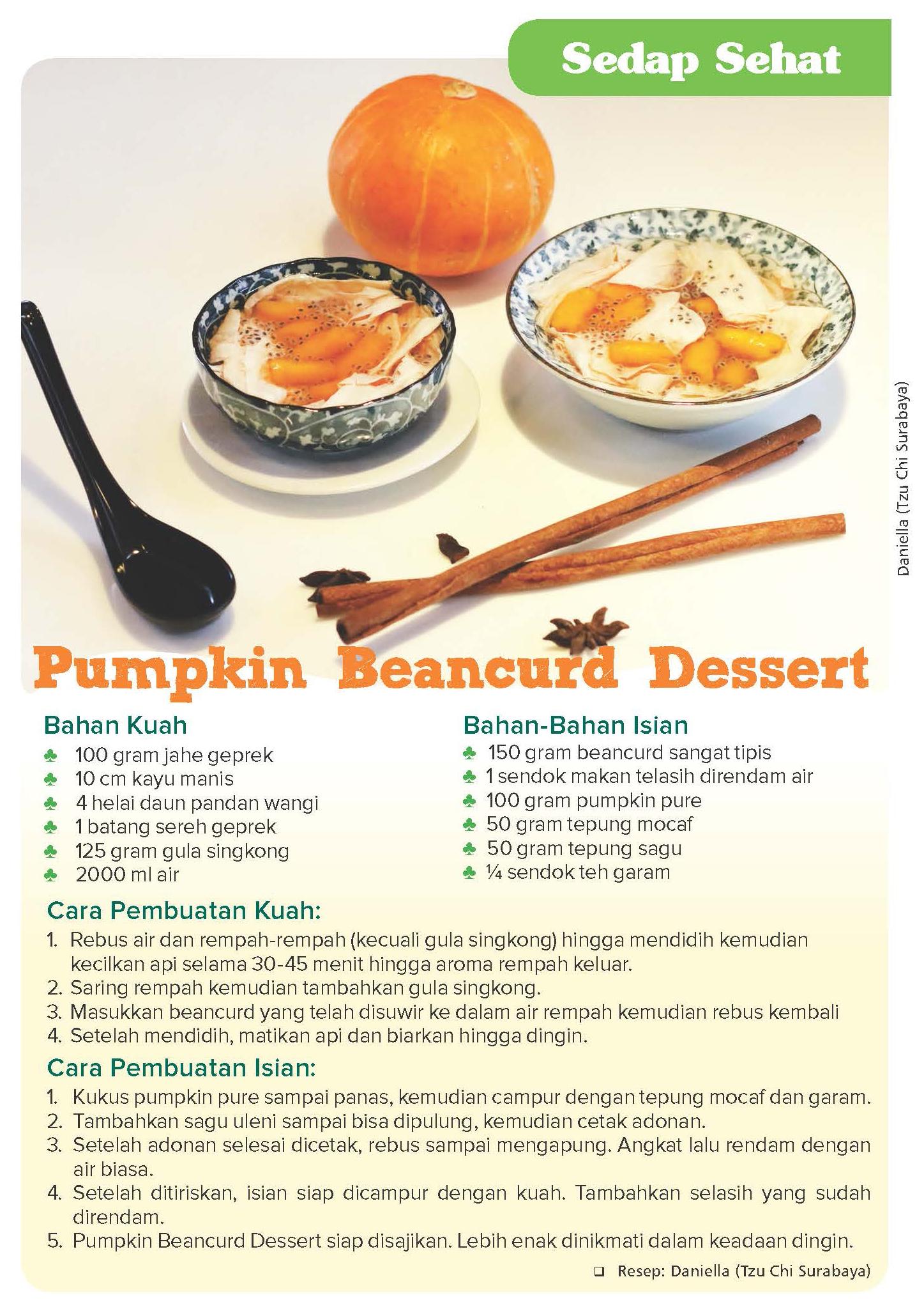 Pumpkin Beancurd Dessert